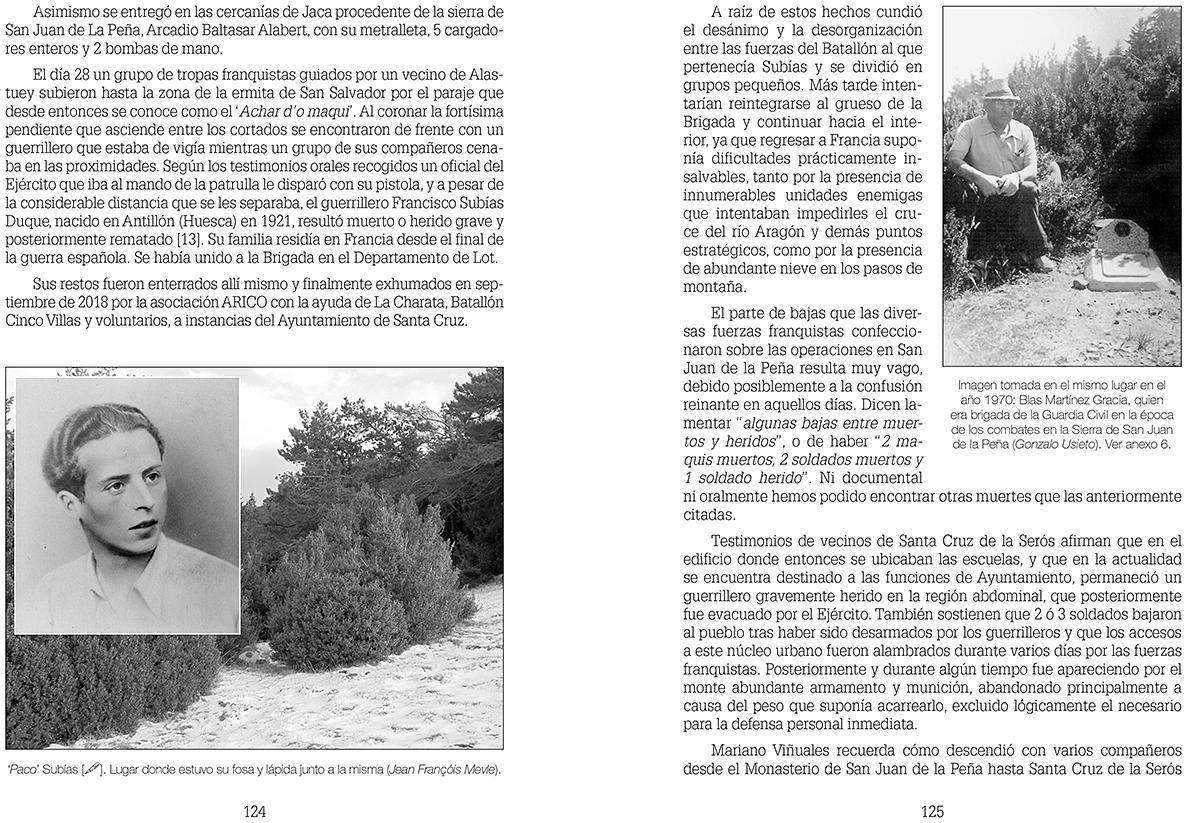 Cuando los maquis. Guerrilla y pasos de frontera en el Pirineo occidental 124-125