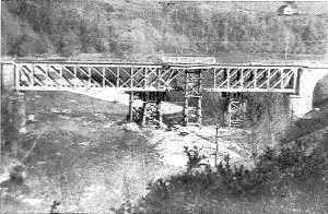 Puente de Escot. Sabotaje.