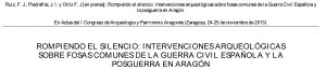 Artículo sobre la exhumación de dos guerrilleros en Fuencalderas (Zaragoza).