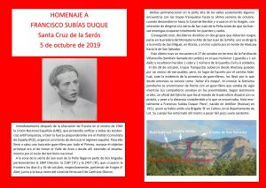 Guerrilla Santa Cruz de la Serós. Homenaje a Paco Subías-1