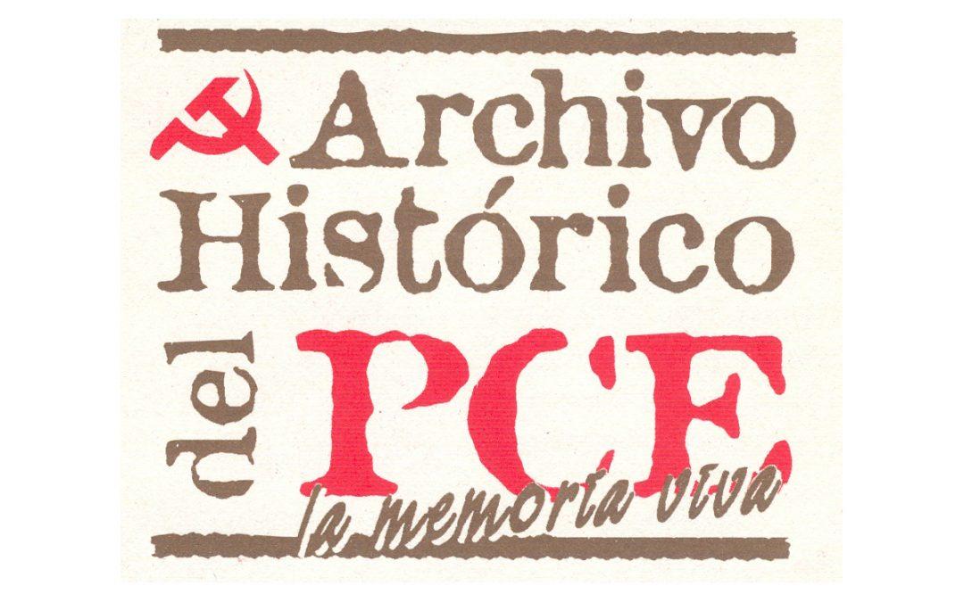 Copia de documentos procedentes del Archivo Histórico del PCE.