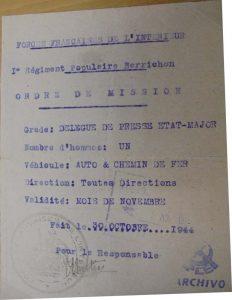 Orden de misión FFI.