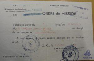Melitón Barros. Orden misión Batallón seguridad.