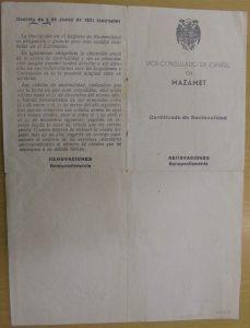 Melitón Barros. Consulado de Mazanet-1