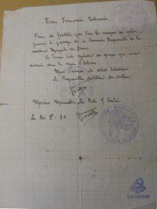 Manuel Moreno Mauricio. Salvoconducto FFI