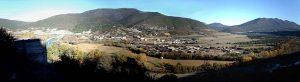 La Peña desde la entrada norte a la Foz de Escalete.