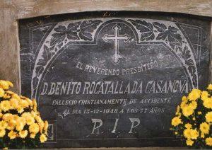 Lápida Benito Rocatallada. Castillo de Lerés.
