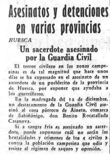 Benito Rocatallada, reseña Mundo Obrero.