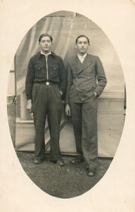 Nicolás Opla y Benedicto Torralba, 1939.