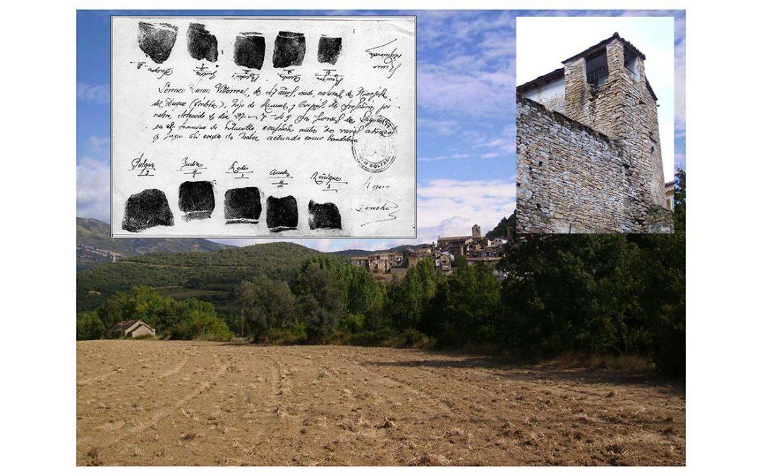 Lorenzo Durán Villareal, de Hinojosa del Duque (Córdoba) biografía y muerte en Boltaña, por Luis Pérez de Berasaluce.