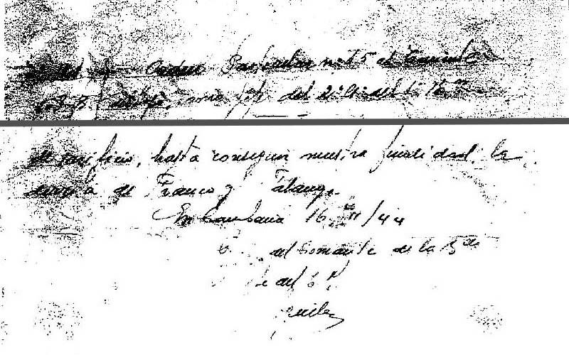 Brigada 486ª. Orden particular al teniente del Hoyo, 16-11-1944.