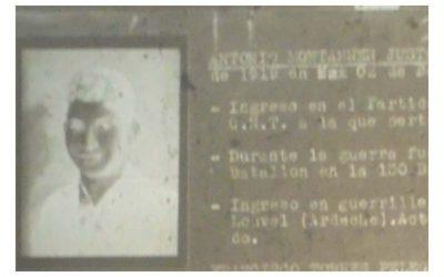 Antonio Montaner Juste 'El Maño', guerrillero del grupo 'Aragón II-Los Nois'.