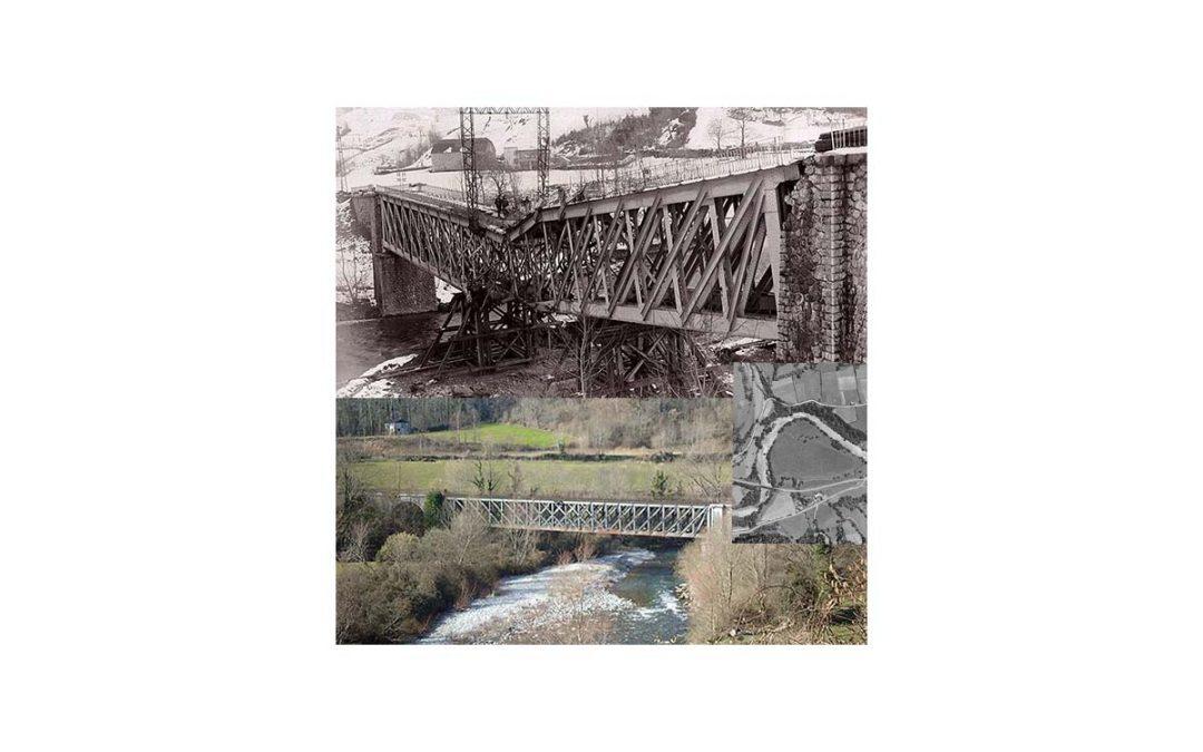 Puente de Escot (Vallée d'Aspe), fotografías del sabotaje guerrillero.