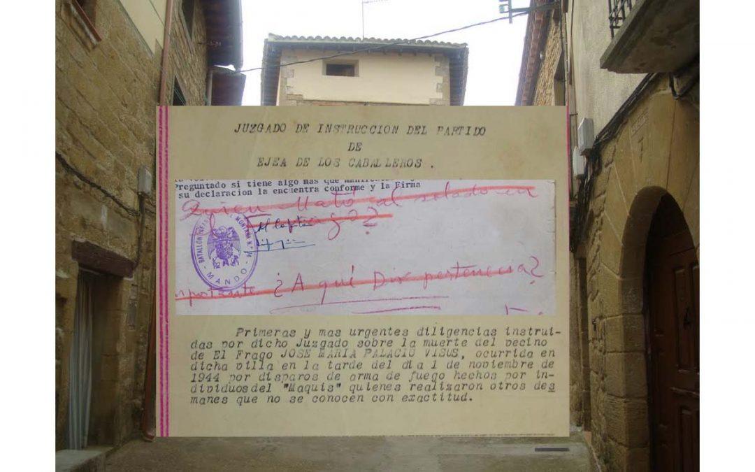 Brigada guerrillera 522ª , nuevos datos relativos a su recorrido en el otoño de 1944. Sucesos de El Frago, por Luis Pérez de Berasaluce.