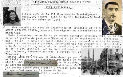 Ángel Álvarez Pereda, Emilio Díaz Giménez y Asunción Ezquerra Ruiz, paso clandestino a Francia y actuación en la 570ª Brigada, por Luis Pérez de Berasaluce.