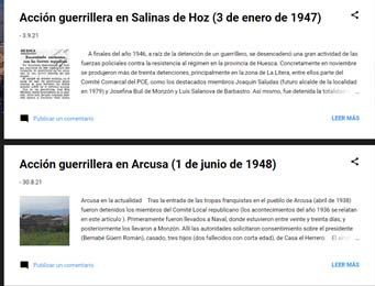 Blog sobre maquis en el Alto Aragón. ¡ACTUALIZADO¡